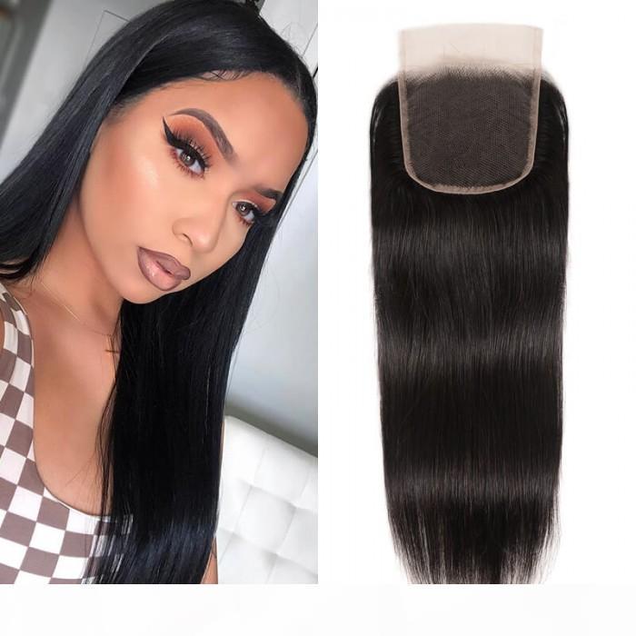 Индивидуальные прямые волосы девственницы человеческой девственницы для женщины черные с кружевными натуральными волосами натуральной кружевной