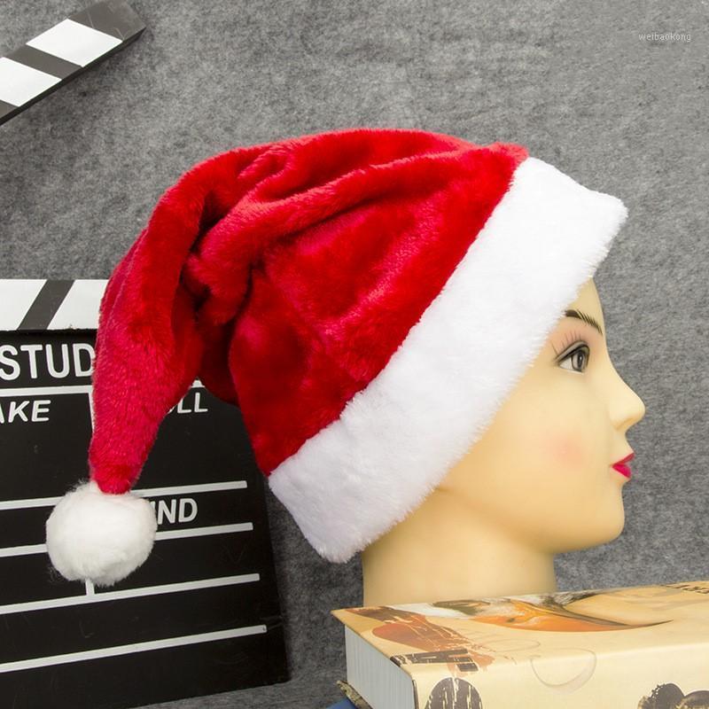 Rosso peluche adulto per adulti paragrafo cappello di natale forniture per party rifornimenti Santa Claus festival Dress up regalo scuola la decorazione del centro commerciale1