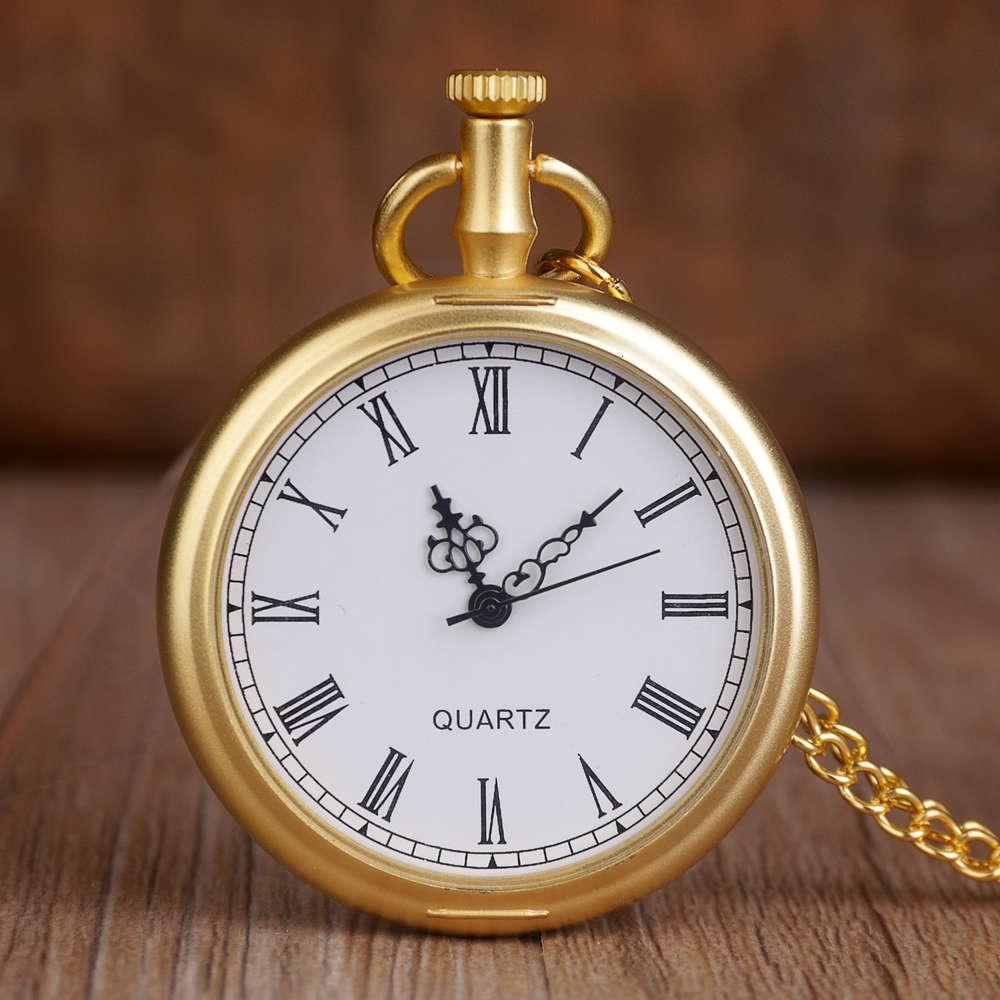Novo retrô ouro moda quartzo de aço inoxidável relógios de bolso pingente cadeia presentes para mulheres amiga das mulheres