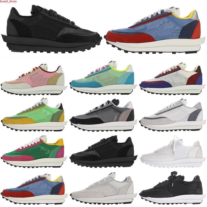 Sacai LDV 2021 Chaussures de luxe Chaussures Casual Chaussures LDV Waffle DayPreak Entraîneurs Sacai Mens Sneakers pour Femmes Designer Tripe S Sports Sports Chaussures de course