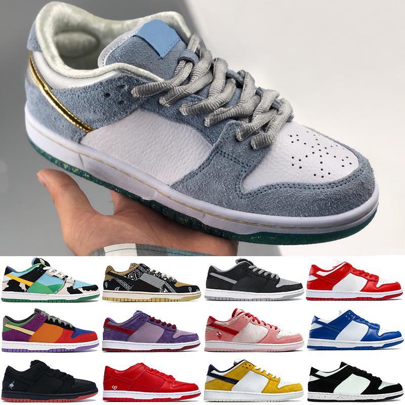 أحذية كرة السلة للرجال الجديدة شون شادو مكتنزة دونكي ترافيس سكوتس كنتاكي ليزر برتقالي برقوق منخفض أحذية رياضية للرجال أحذية رياضية للنساء 5.5-11