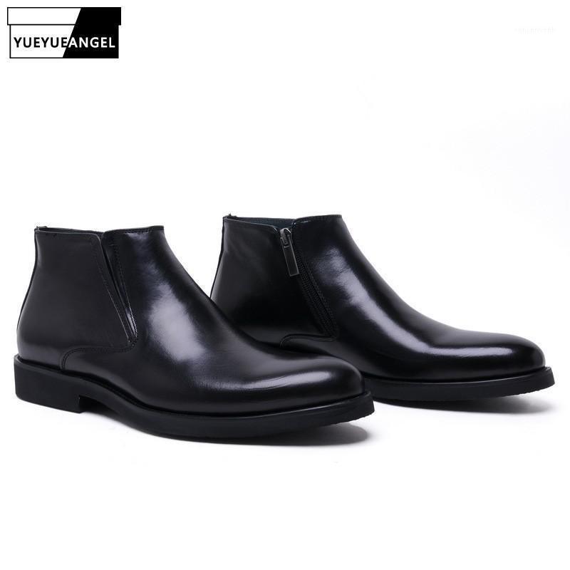 Bottes Brand En Cuir Véritable Hommes Hommes Haute Qualité Confortable Italien Designer De Mariage Robe de mariée Chaussures pour affaires1