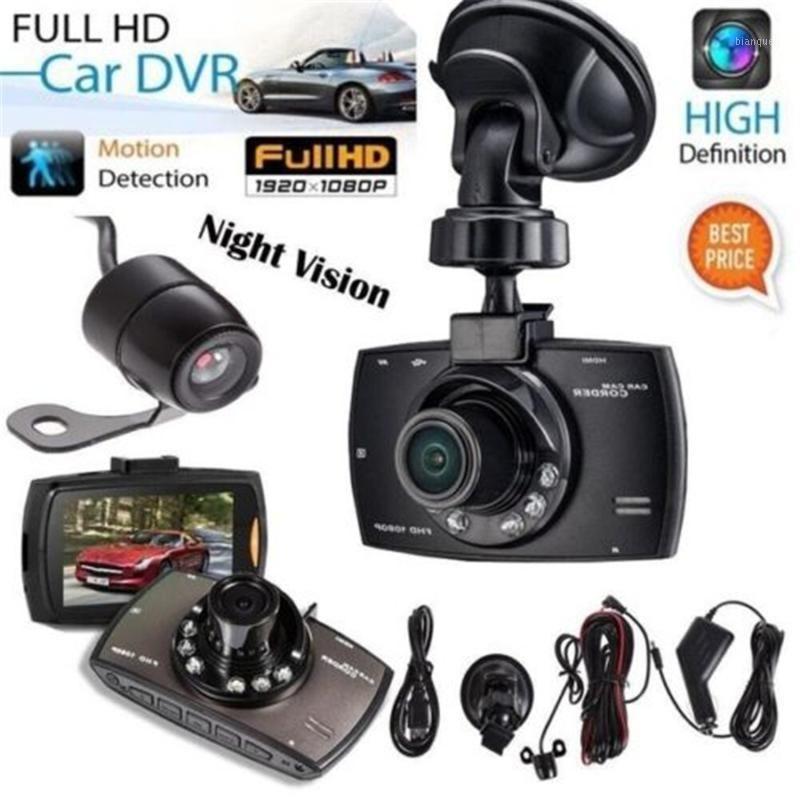 1080 P Çift Lens Araba Dash Cam Ön ve Arka Kamera Dashboard DVR Kaydedici 1701