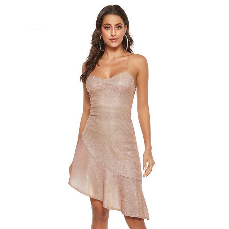 2020 Meerjungfrau Sexy New Sunshine Girl Urlaub SUPPEND Kleid ohne Back BH gekleidete Strandseite IEGX