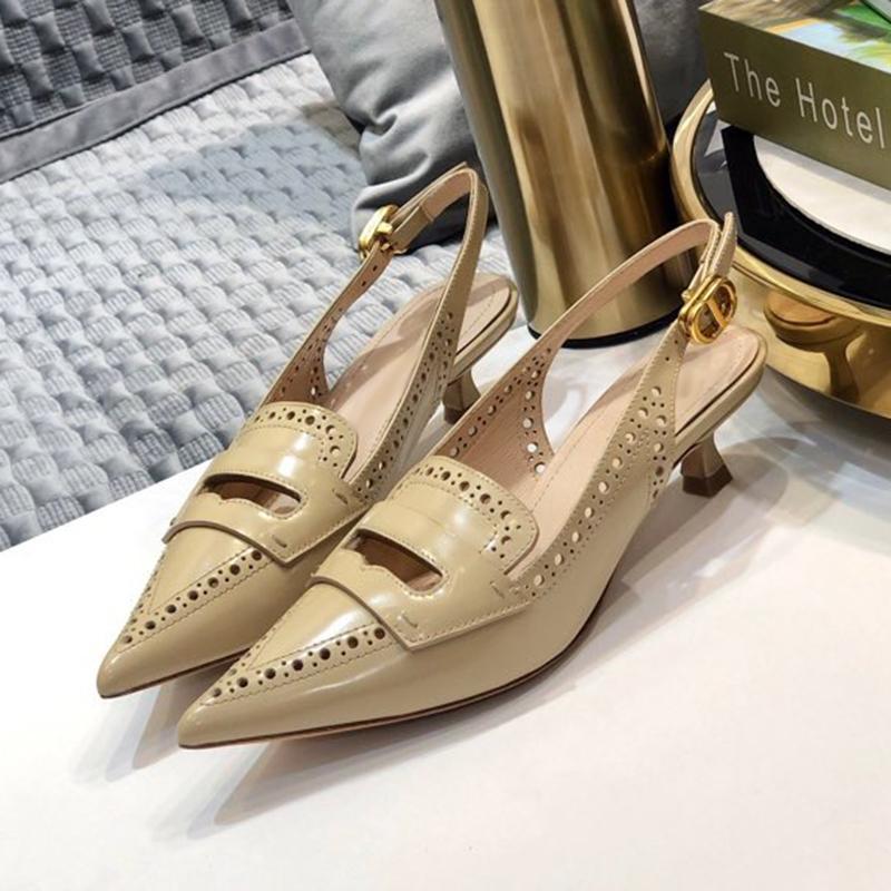 Retro Moda Sivri Burun İlkbahar Yaz Marka Tasarım Kadın Ayakkabı Yeni Lüks Toka Kayış Kadın pompaları