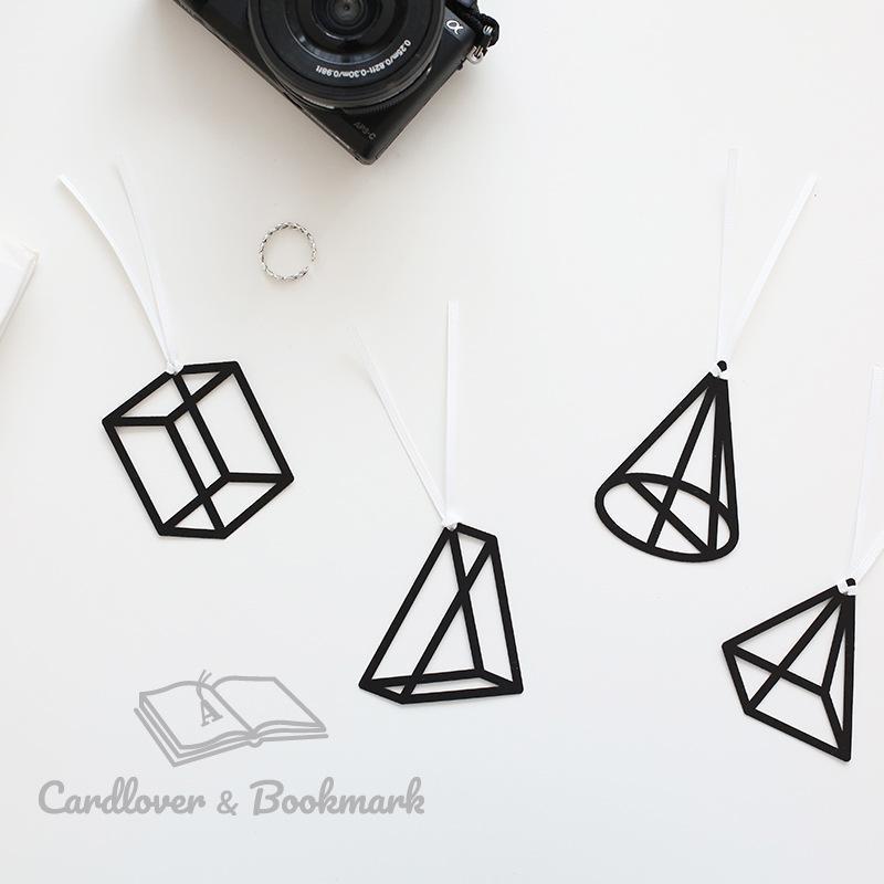 Bookmark Mathematician Serisi Geometri Şekli Sevimli Uzun Kuyruk Şerit Bookmarks Ofis Okul Malzemeleri Kawaii Kırtasiye
