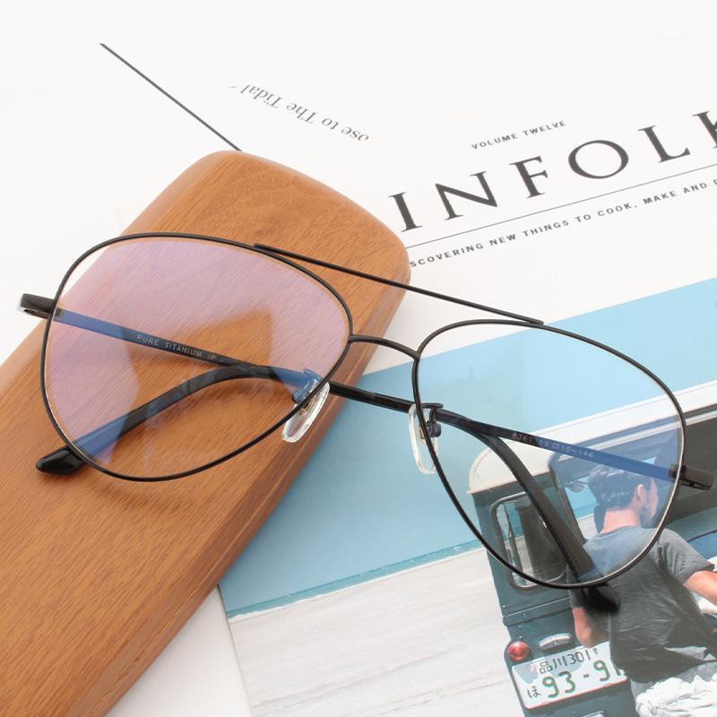 Cubojue Titanyum Gözlükler Çerçeve Erkek 151mm 146mm Boy Havacılık Gözlük Erkek Kadın Ultralight Moda Okuma Gözlük1