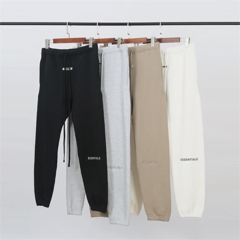 Niebla Essentials Colección 3M Reflexión Impreso Menores Hombres Jogger Pantalones Sweatpants Hiphop Streetwear Hombres Pantalones Joggers Y201123