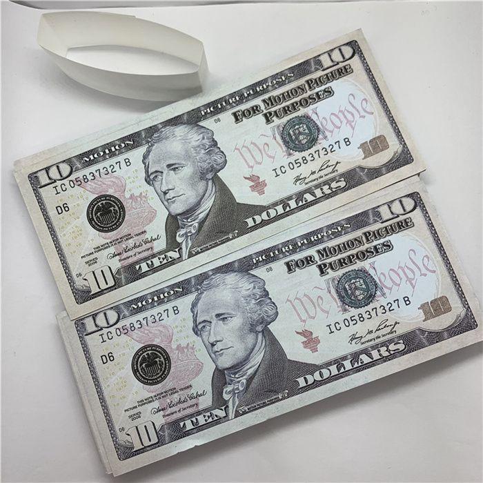 Hot Prop Money Falsoit la-038 Billet 1 Fake Money 10 Props Película Fake Dollar Billet Disparo y Atmósfera TV Bar Money UFBKN