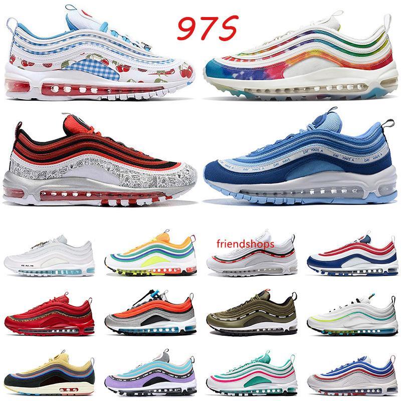 2020 Hot Selling97s Femmes Hommes Chaussures de course air \ rmax \ rairmax chaussures de sport noir GS Sky Triple blanc irisé NIK Formateurs extérieur