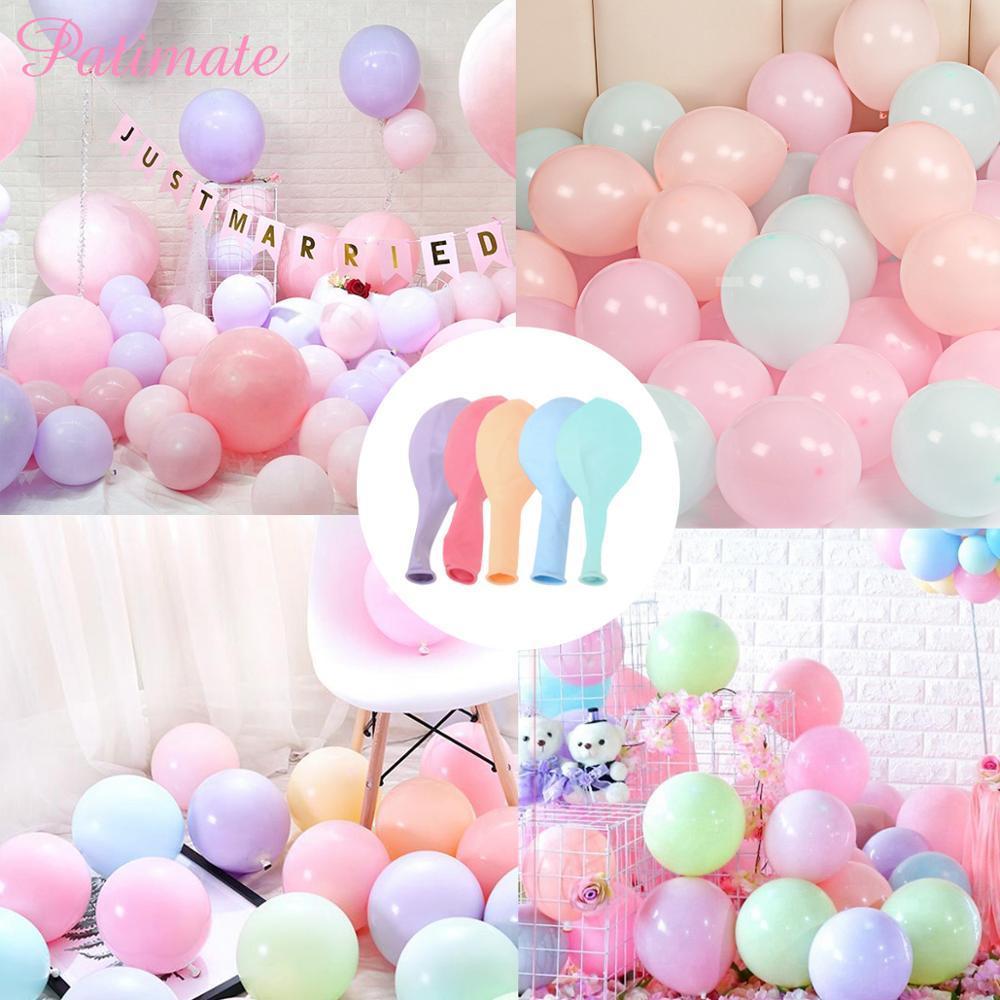 Ronde de mariage Ballons Décoration Ballon Latex gonflable Fournitures de fête Ballons de fête d'anniversaire hélium Macaron Transperents