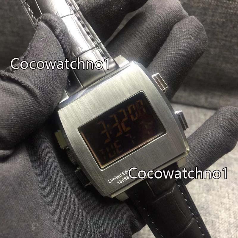2019 Nova quartzo homens clássicos de luxo e exibição eletrônico movimento Calibre 36 RS Caliper moda relógios relógio monaco de Men Chronograph