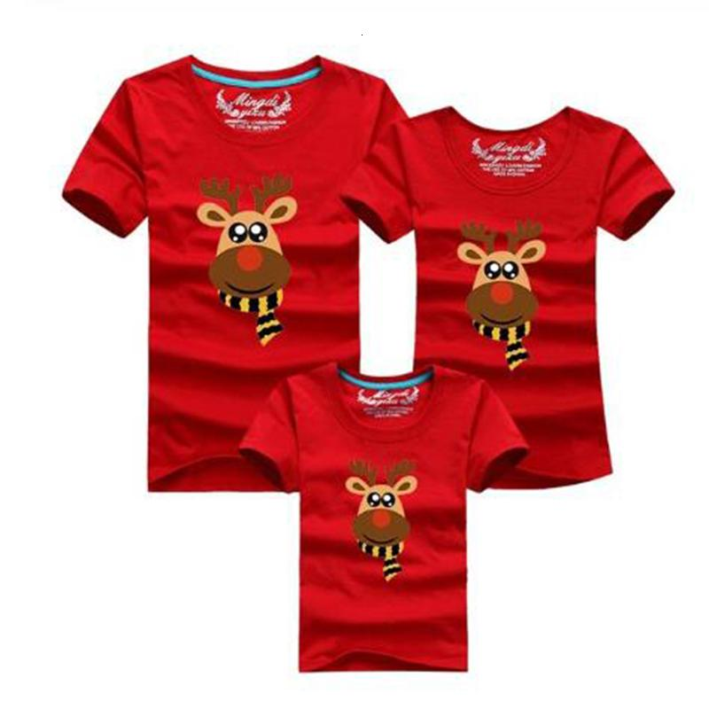 Dad Mom Baby Christmas Clothing For Family Shirt Matching Outfits Clothes Mother Daughter Father Son Look Mommy and Me T-Shirt
