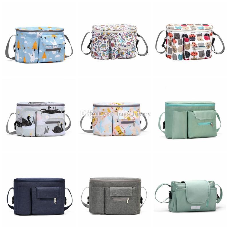Borsa portatile del passeggino del sacchetto del pannolino dell'organizzatore di grande capacità del nappy bag dei sacchetti di maternità della borsa della mamma Borse di stoccaggio di viaggio della mamma Trasporto libero