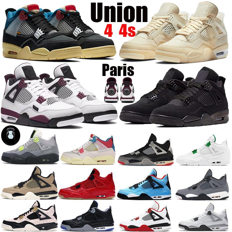 Paris white x sail bred Jumpman SE Neon black cat 4 4S IV white cement metallic purple trainers Mens Basketball Shoes Sports Sneakers