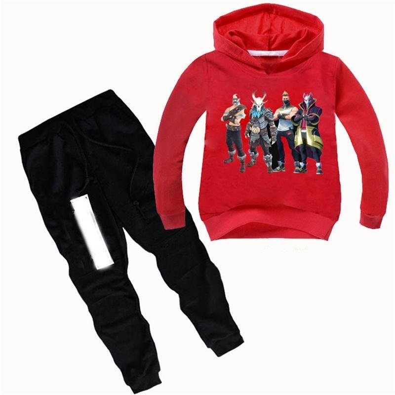 ZY 2-16Y Весна осень детские мальчики одежда набор с длинным рукавом детей с капюшоном толстовки + брюки Толльдер девушки одежда бусик 201126