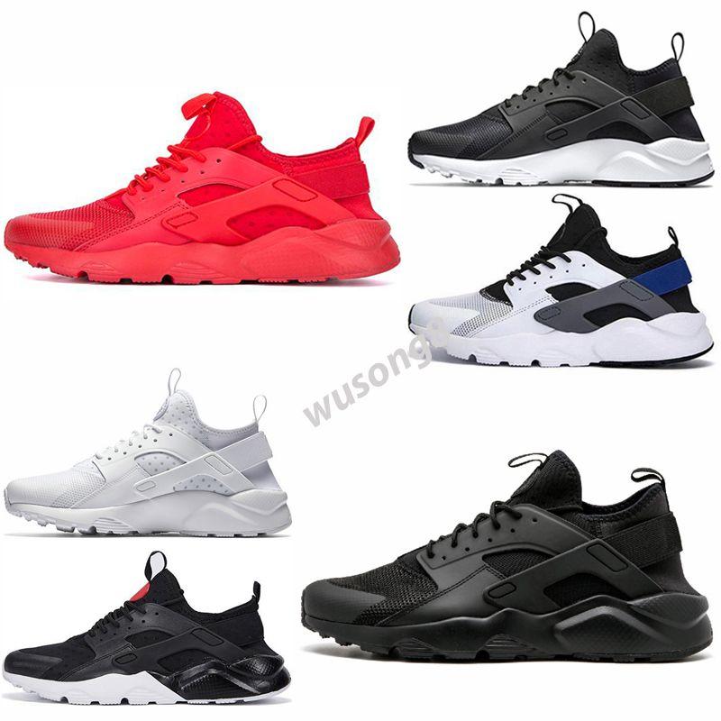 Huarache 3 4 2021Atapt Racer Blue Shoes Men Navy Black White Huaraches Sneakers Designer Huraches Marca Hurache Trainers US 7-11