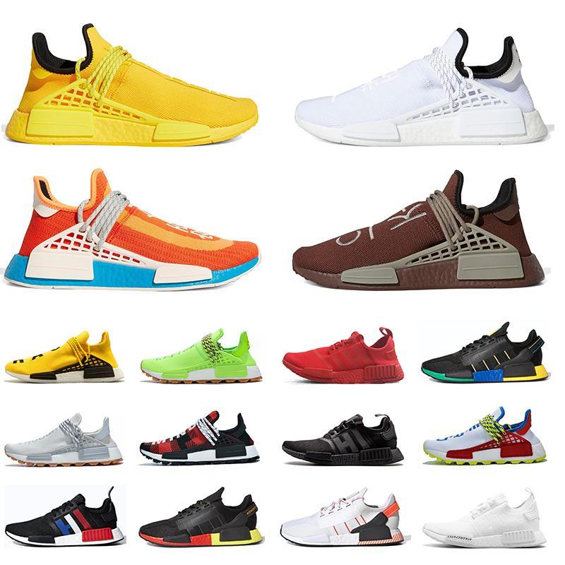 Adidas boost Nouveautés Human Race NMD Chaussures de course Pharrell Williams Jaune vif Extra Eye Chocolate Nerd noir Baskets de sport en plein air