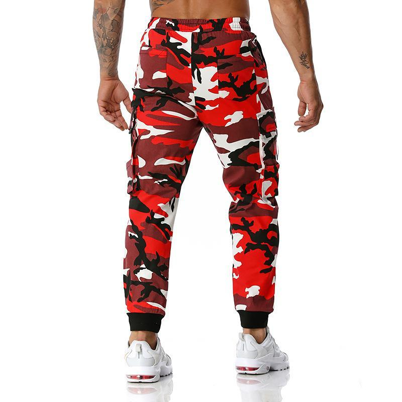 Men's Pants 2021 Spring Autumn Fashion Casual European Size Camouflage Cotton Sport With Pocket Loose Jogger