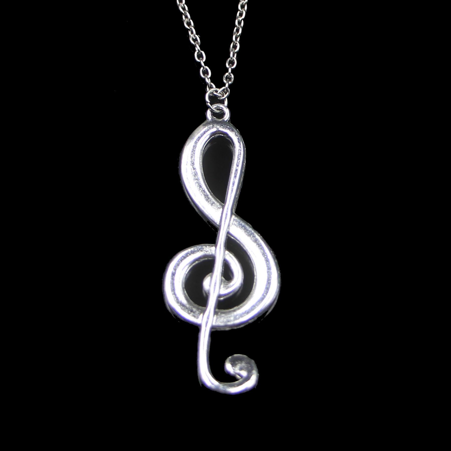 Мода 60 * 21 мм музыкальная нота подвеска ожерелье звена цепочка для женского колье ожерелье творческий ювелирные изделия