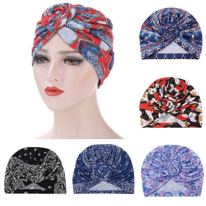 Frauen Accessoires Turban Bunte Baumwolle für SPANDX Headwear Beanie KONT Headbands Hut Haar Dehnbare Mädchen Mädchen Schlaf Oifna