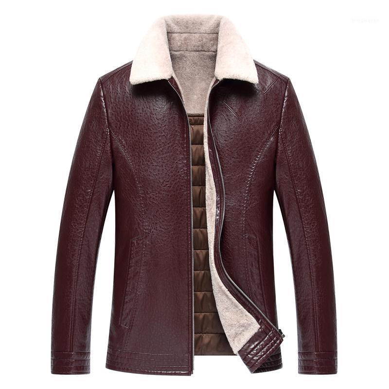 1723 nuova moda 2017 uomo inverno cappotto di pelliccia di inverno ispessimento uomini vestiti invernali cappotto in pelle giacca1