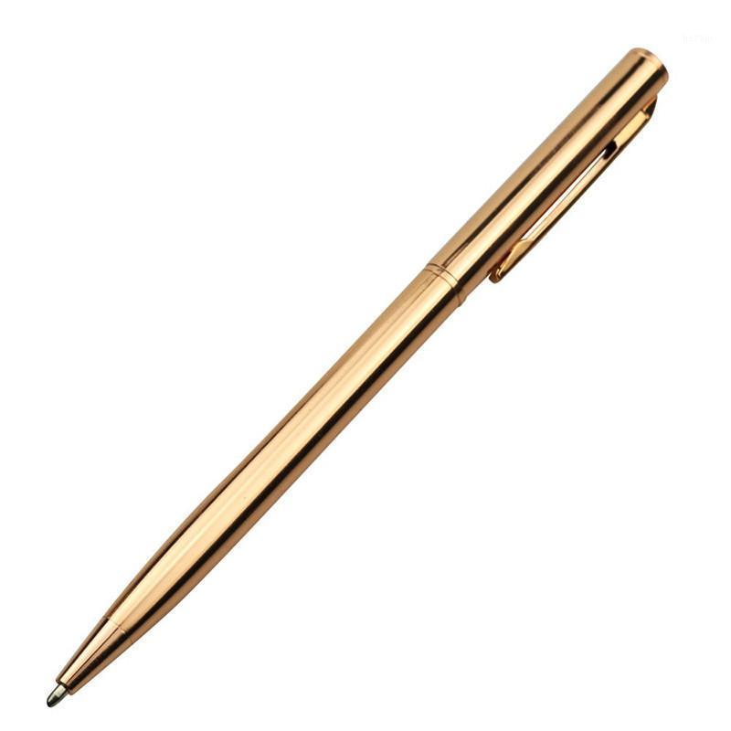 Ballpoint Pens 1 шт. Pen 1.0 мм Металлическая подпись бизнес офис подарок золотой серебристый роза три цвета опционально / пополнить 20 шт.