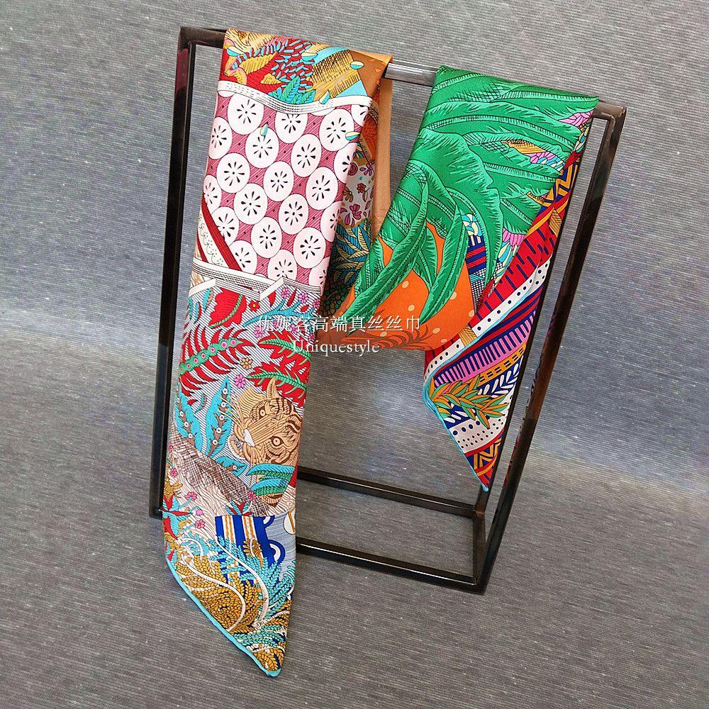 Сказочный принт большой квадратный 100% шелковый шарф шаль хиджаб для женской моды головы шарфы 35 * 35 дюймов