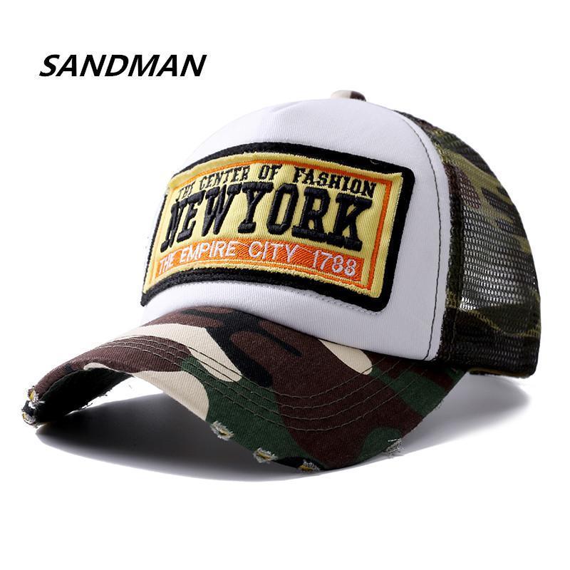 Cappello degli uomini della maglia di baseball del ricamo per l'hip camuffamento Summer Hats Bone York Cap donne all'aperto Papà Sandman Hop Nuovo Snapback sqcheB bdehair