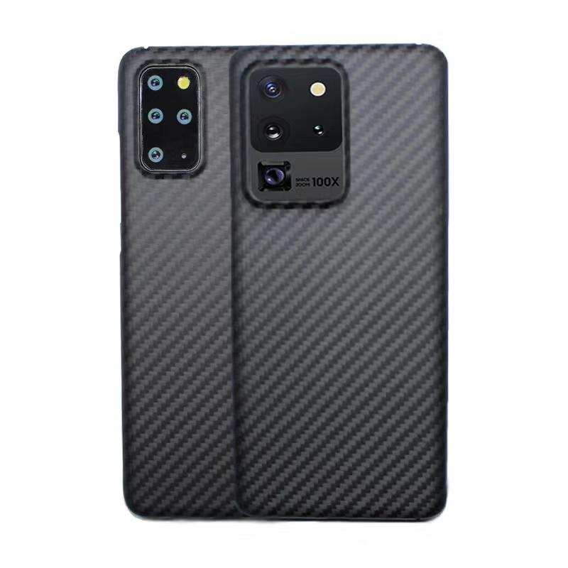 Caja de la fibra de aramida para Samsung S10 S20 + S20 Ultra cubierta de la luz de la suciedad resistente