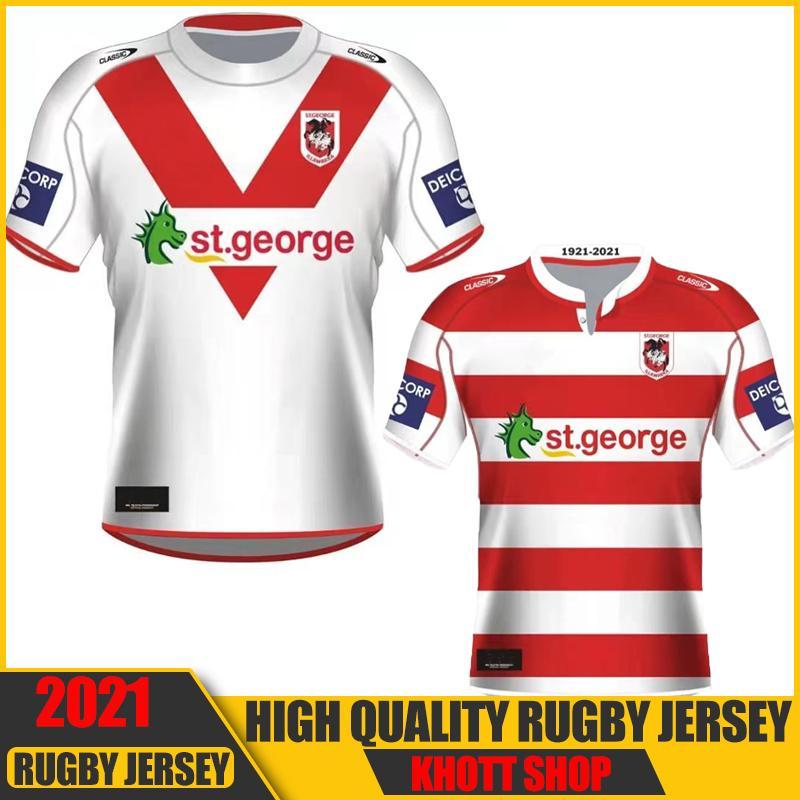 2021 St George Illawarra Draghi Nines Jersey Commemorativo Indigeno Rugby Pantaloncini Australia Nrl Rugby League Jerseys 5XL