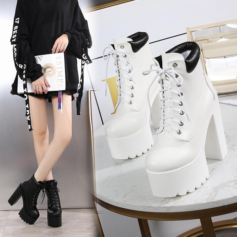 14cm Thist Heel Super High Heel Heel Sky Dance T Stage Nightclub Knight Boots Stivali da donna Scarpe da donna