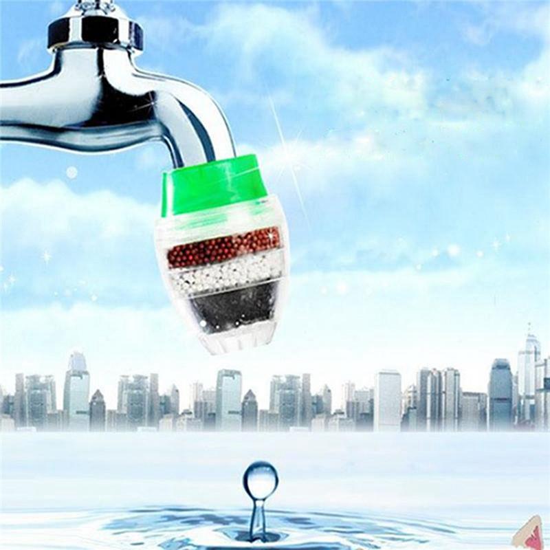 Haushaltswasserhahn Filter Mini Leitungswasser reinigen Filter Luftreiniger Filterpatrone 16-23mm Küche Haus Carbon-Wasser-Filter IIA738