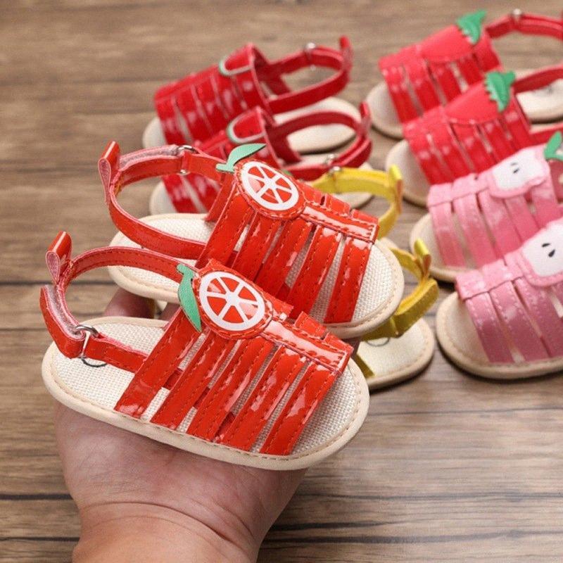 Été Bébé Sandales Garçon Fille PU Fruit Imprimer respirante Sandales Anti Slip Crib Chaussures souples Sole Prewalkers Chaussures bébé Enfants Sneaker Vente mxvC #
