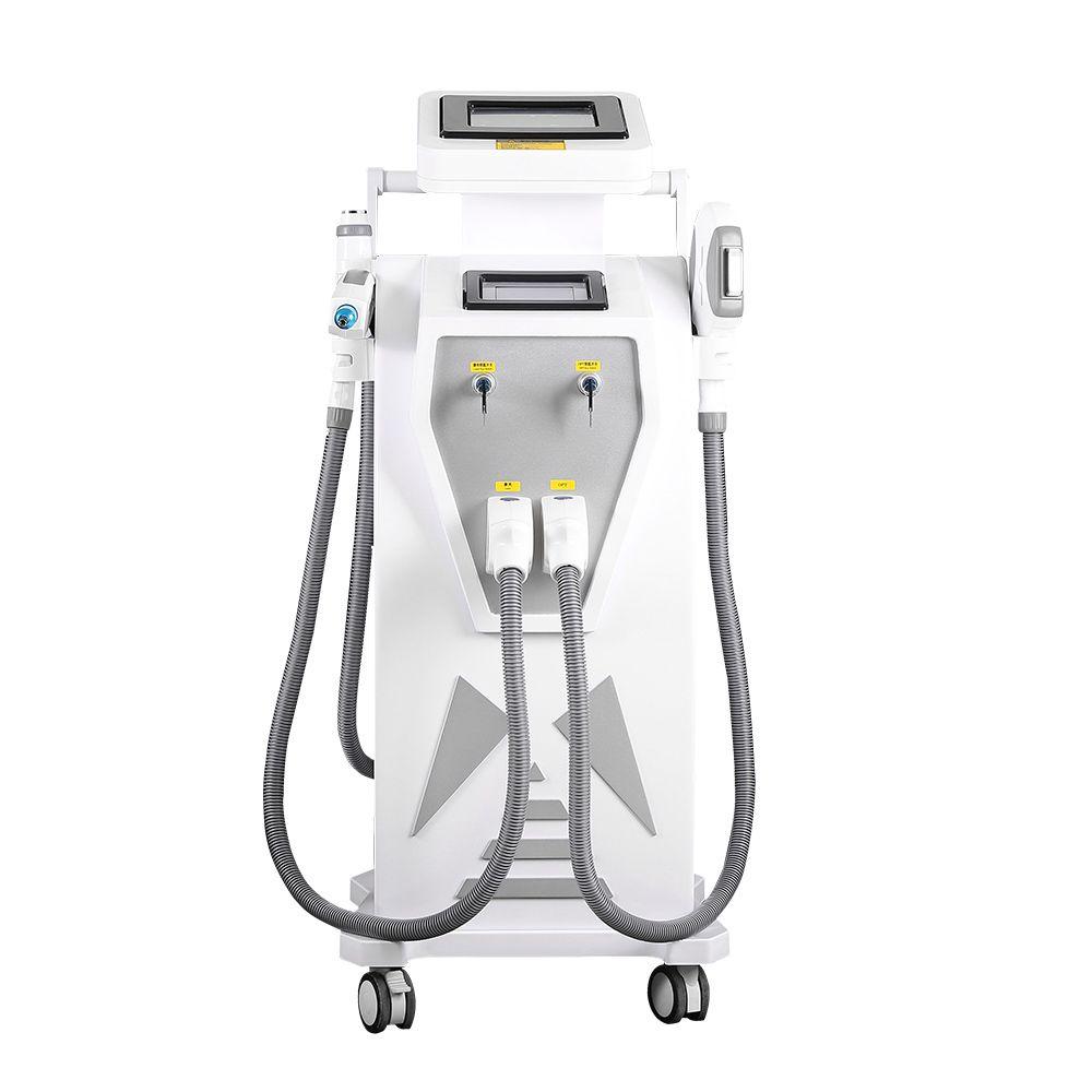 4 في 1 معدات التجميل متعددة الوظائف آلات إزالة الشعر بالليزر المهنية إزالة الوشم الليزر إزالة الصباغ RF رفع الجلد