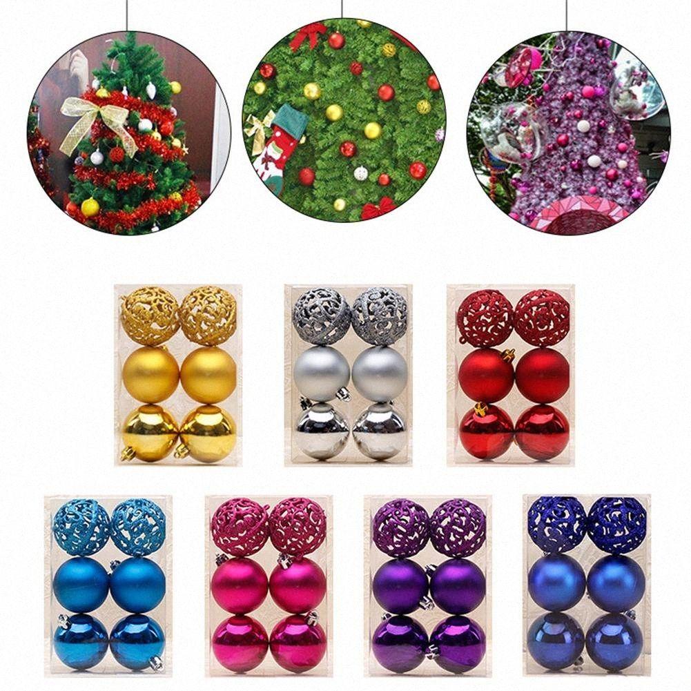 6pcs / lot 6cm aushöhlen Weihnachtskugeln Weihnachtsbaum hängende Dekoration Glitter-Flitter Zubehör Ornament Crj5 #