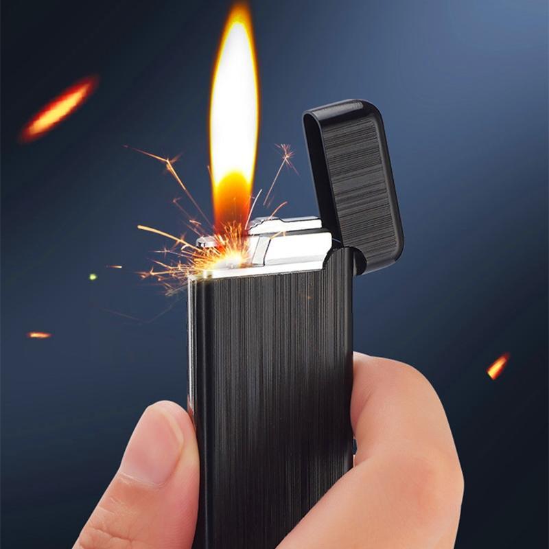 Pas cher coupe-vent flint flint briquet jet mini essence compact gadgette de cigarette de cigare-cigarette