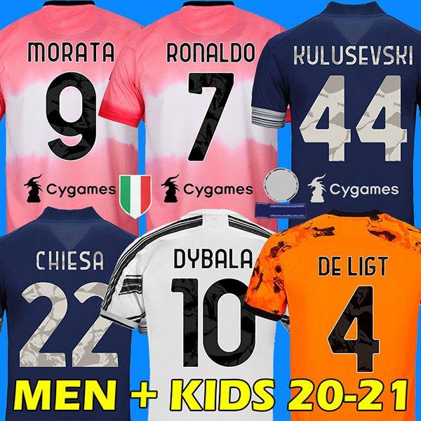 RONALDO DYBALA 20 21 soccer jersey MORATA KULUSEVSKI football shirt CHIESA DE LIGT juventus Camiseta de fútbol 2020 2021 maillot de foot 4th