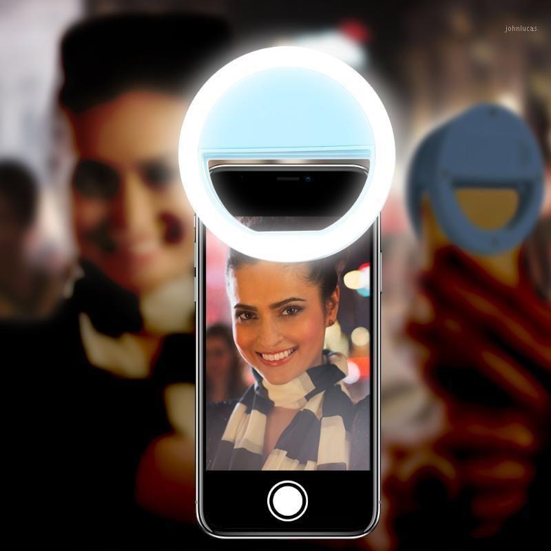 Flashes KissCase Selfie LED Bague Flash Lumière pour lentille de téléphone portable Lampe lumineuse caméra caméra Spotlight Lens1