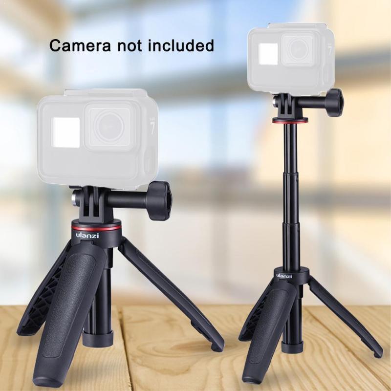 Ulanzi mt-09 estender vlog tripé mini portátil 6 ação 7 herói tripé 5 8 sessão de câmera OSMO preto para G3L5