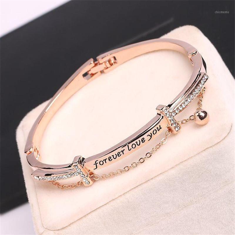 Роскошный золотой горный хрусталь цепной браслет мода женская свадьба украшения романтическая леди в день Святого Валентина подарки аксессуары1
