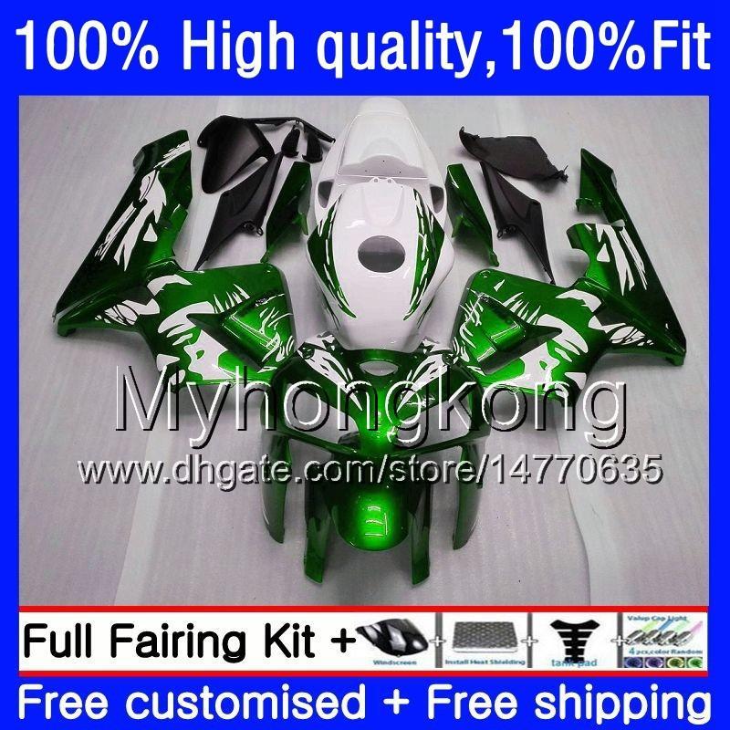 Inyección para HONDA CBR 600RR F5 OEM CBR600 RR 600F5 05 06 48HM.264 verde Mujer blanca CBR600F5 CBR600RR 05 06 CBR 600 RR 2005 2006 carenados
