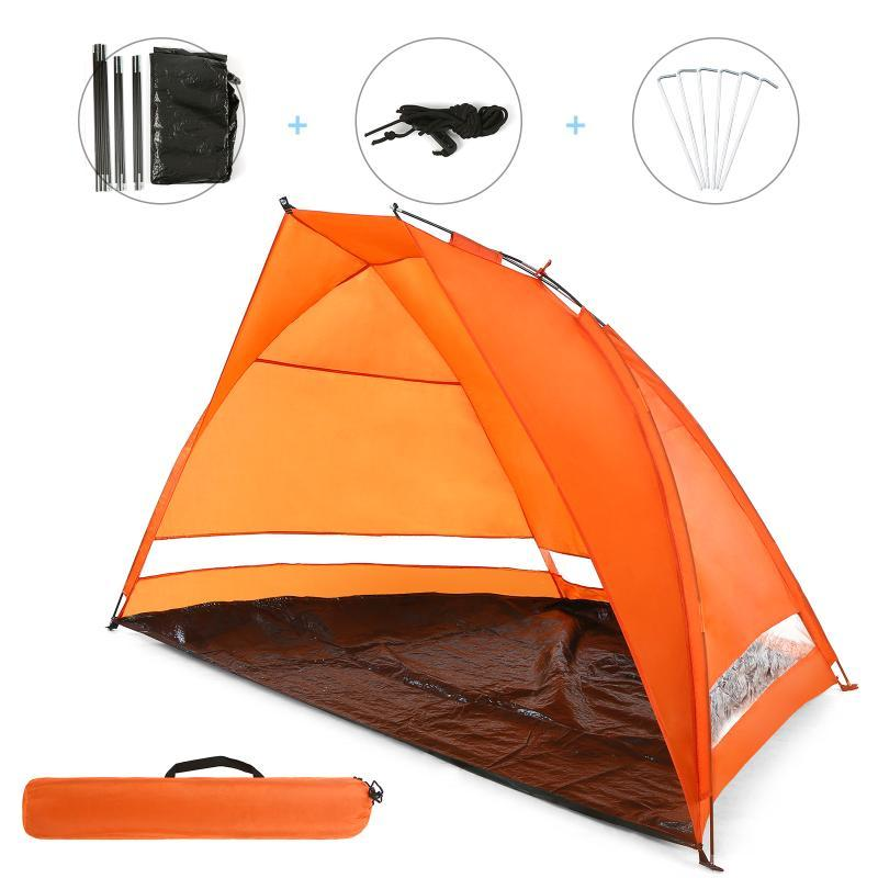 Beach Tent Up Automatic Open Tent Family Ultralight Folding Tourist Fish Camping Anti-UV Fully Sun Shade 2-3 Persons