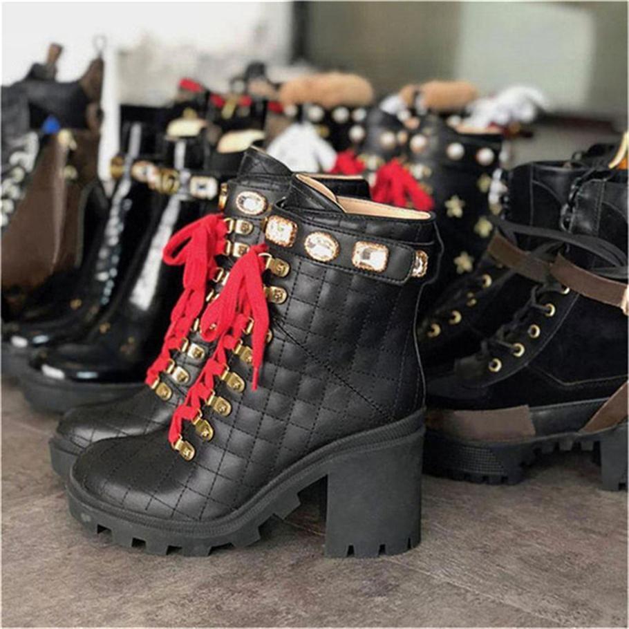 2020 Botas de mujer caliente Martin Desierto de Botas Flamencos amor Flecha 100% Real Cuero Medalla Grueso Non-Slip Zapatos de invierno Tamaño US1-48