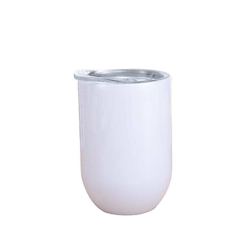 12oz sublimação de vinho reta copo de vinho de aço inoxidável isolamento de vidro de vinho caneca de café sublimação garrafa de água de tumblers com tampa A02