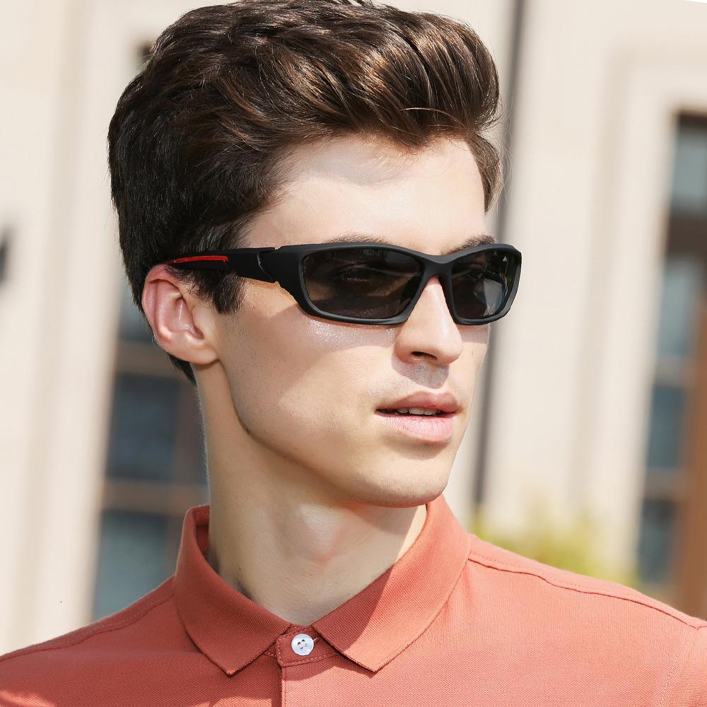 Kingseven Mirror Deporte Gafas de sol Gafas de sol Gafas Sun Marco cuadrado polarizado masculino TR90 Ultralight UV Viajes Gafas CE ROOWM