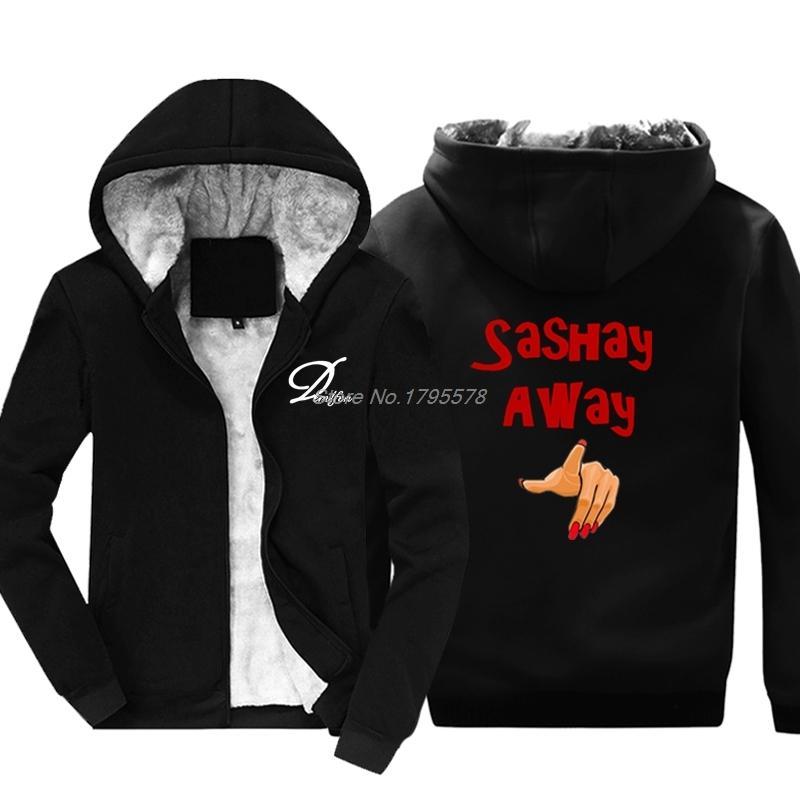 Les hommes Gardez chaud Épaissir capuche drôle Sweat Sashay loin Sweats à capuche Hip Hop Veste à capuche Hauts Harajuku Streetwear X1022