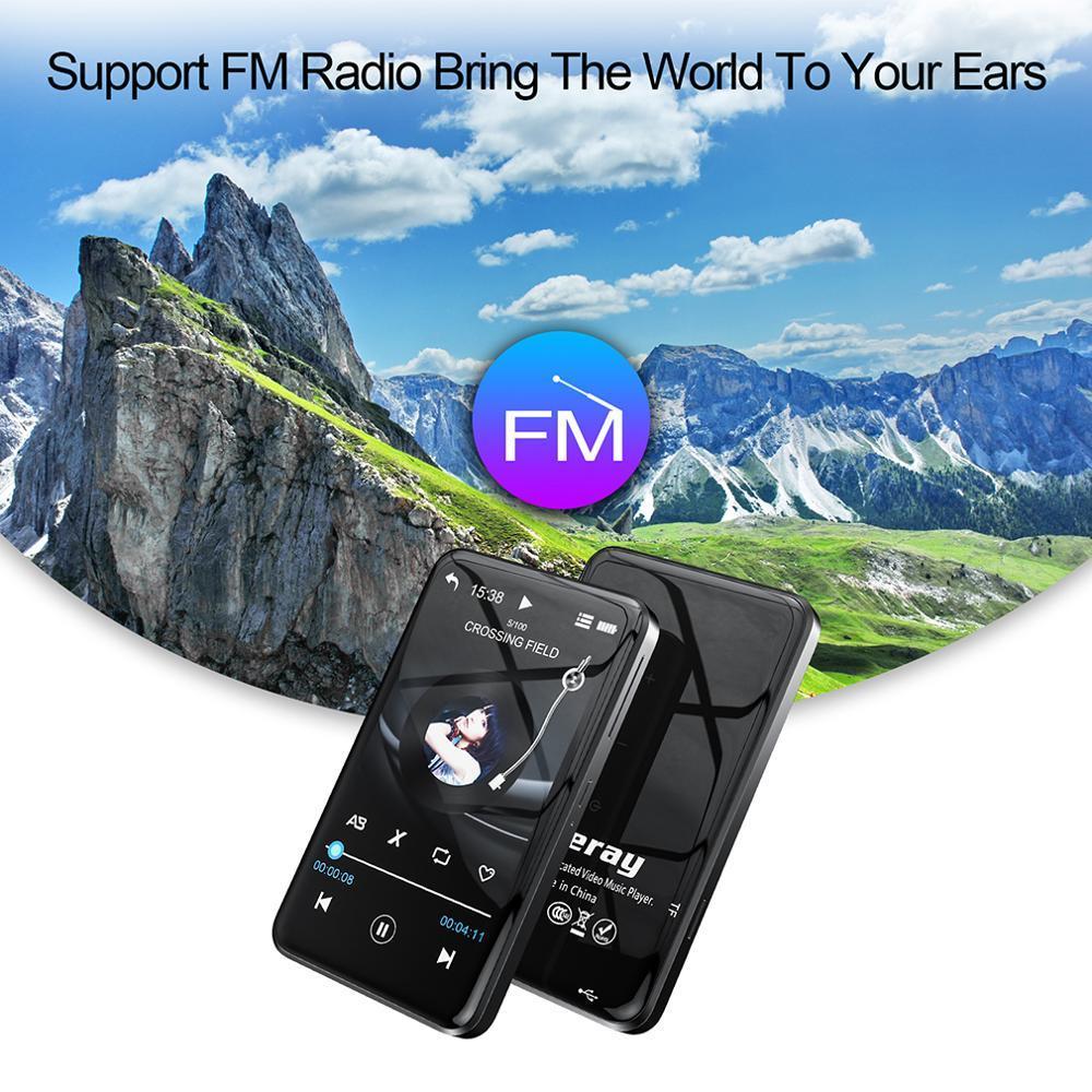 Сенсорный экран MP3-плеер Bluetooth 8 ГБ HIFI музыкальный проигрыватель Высокое разрешение без потерь без потерь Audio Video электронная книга радиописания