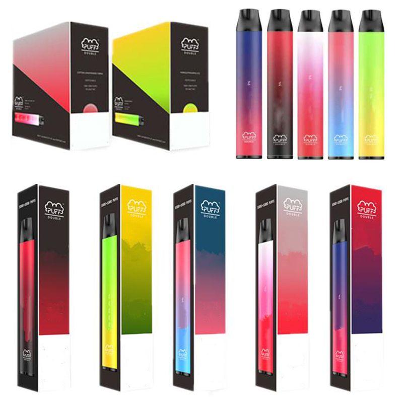 5 colores soplo doble vape vape 6ml dispositivo pods 2in 1 900mAh vape bolígrafos 2000 bocadillos kits de inicio vacío e cigarrillos