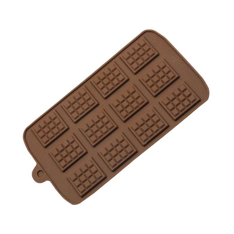 Novo Dining Silicone Mold 12 Mesmo Molde de Chocolate Fondant Moldes DIY Candy Bar Bar Bolo Decoração Ferramentas Cozinha Acessórios de Cozimento W108